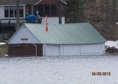 Rising water April 18-20/13 water levels rose 37